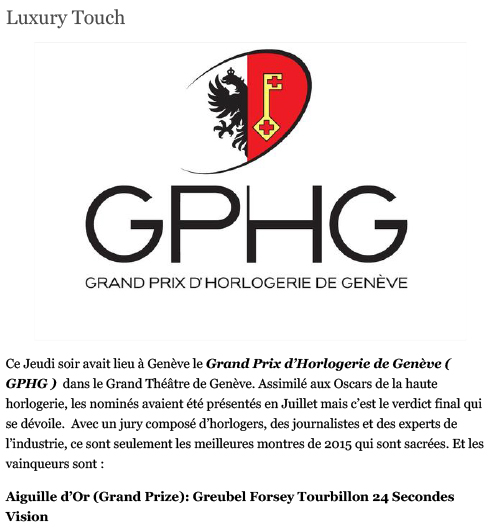 luxury touch gphg