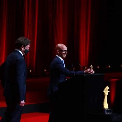 Stephen Forsey et David Bernard, Co-fondateur de Greubel Forsey /  Responsable de l'atelier Hand Made de Greubel Forsey, lauréats du Prix de la Complication pour Homme 2020