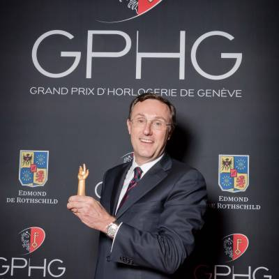 Philippe Peverelli, CEO of Tudor, winner of the « Revival » Prize 2013