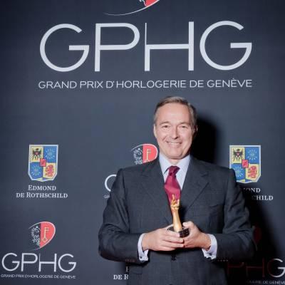 Karl-Friederich Scheufele, co-president of Chopard, winner of Jewellery Watch Prize 2013