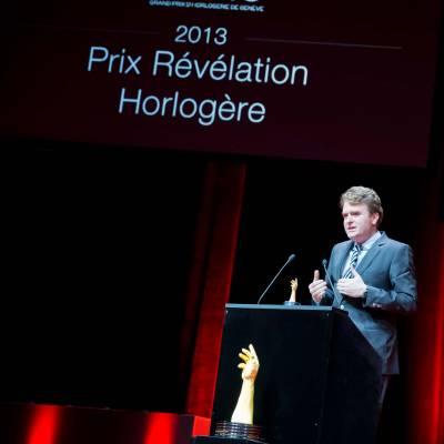 Speech of Benoît Mintiens, founder of Ressence, winner of the Horlogical Revelation Prize 2013