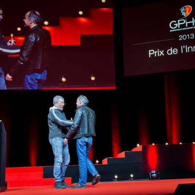 Philippe Starck, member of the Jury 2013, and Vianney Halter
