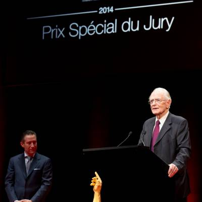 Aurel Bacs (President of the jury) and Walter Lange (Founder of A. Lange & Söhne and winner of the Special Jury Prize 2014)