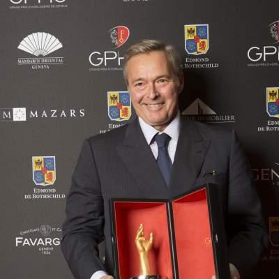 "Karl-Friedrich Scheufele  (President of Chronométrie Ferdinand Berthoud, winner of the ""Aiguille d'Or"" Grand Prix 2016)"