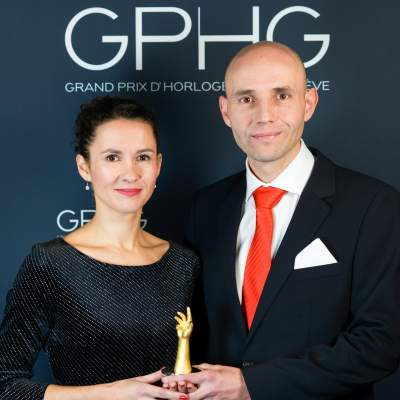 """Owner and watchmaker, winner of the """"Petite Aiguille"""" Prize 2019"""