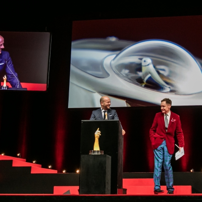 Christian Lattmann (Senior Executive Vice President of Jaquet Droz, winner of the Mechanical Exception Watch Prize 2015) with Nick Foulkes (jury member)