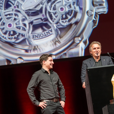 Antoine and Florian Preziuso (Founder of Antoine Preziuso and his son, winner of the Innovation Watch Prize 2015 and the Public Prize 2015)