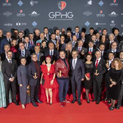 The winners and the members of the jury