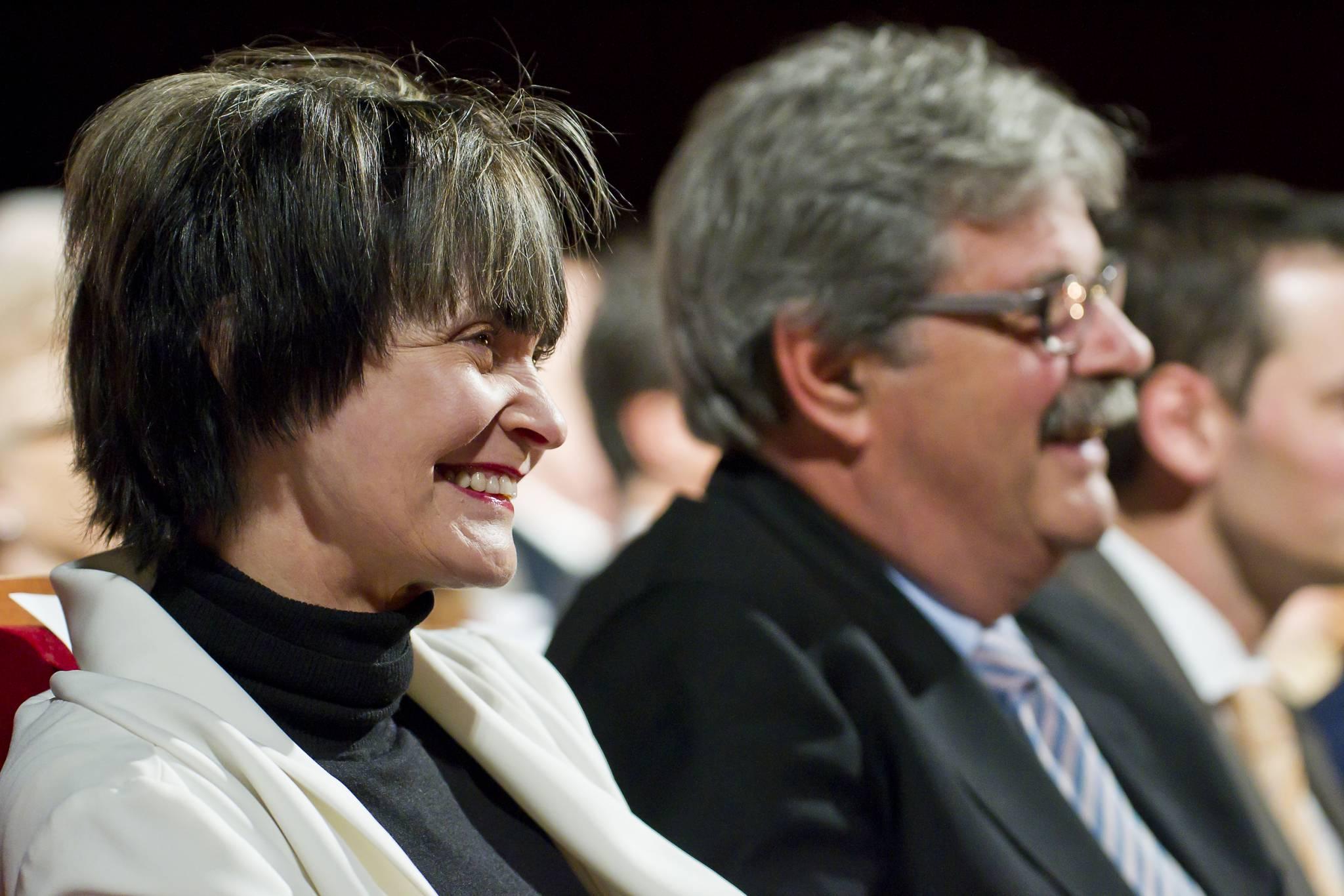 Micheline Calmy Rey, présidente de la confédération, et Pierre-François Unger, conseiller d'Etat de Genève, 19 novembre 2011