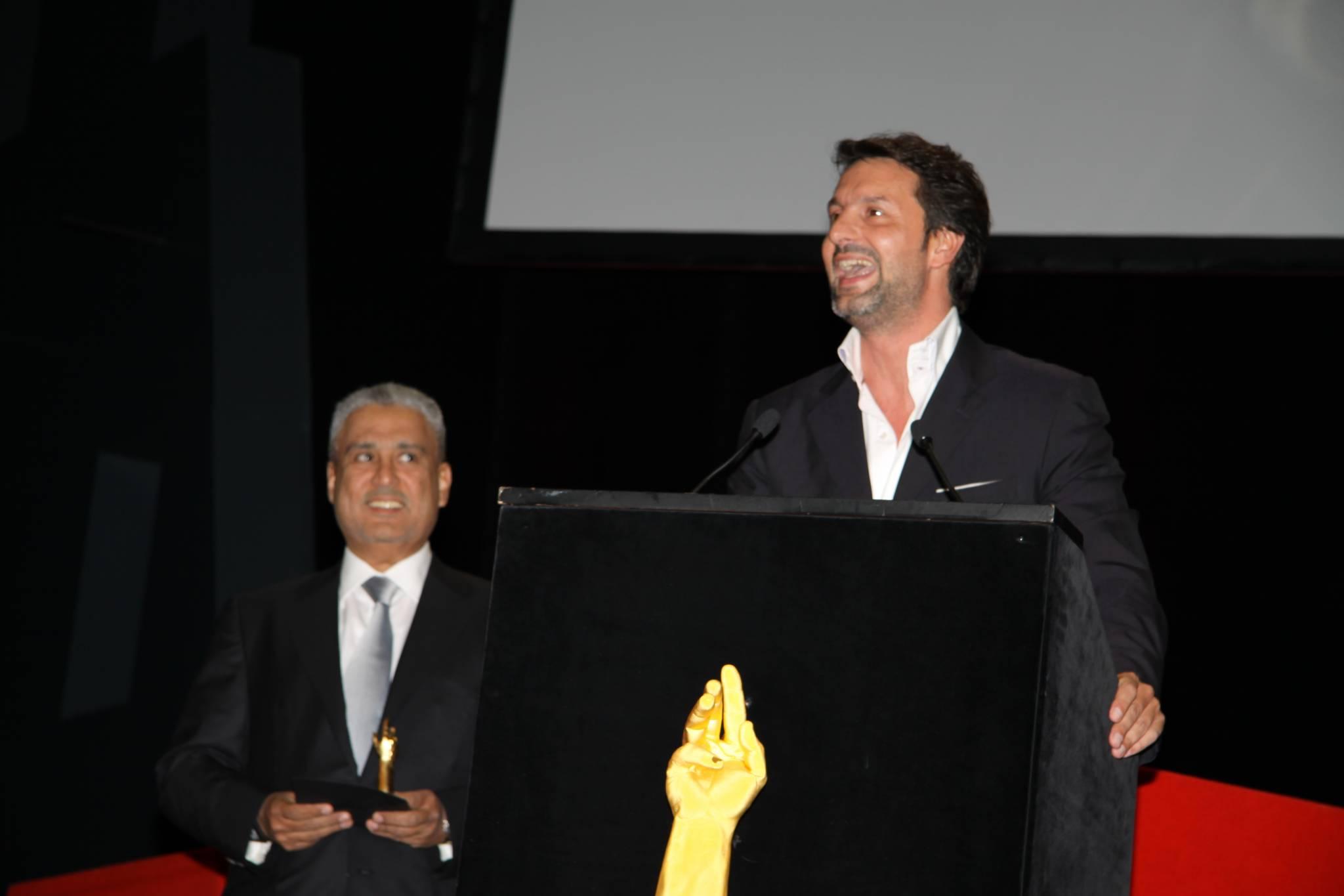 Maximilian Busser, CEO de MB&F (premier plan) et Abdul Hamied Seddiqi, vice-président de Seddiqi & Sons, cérémonie 2010