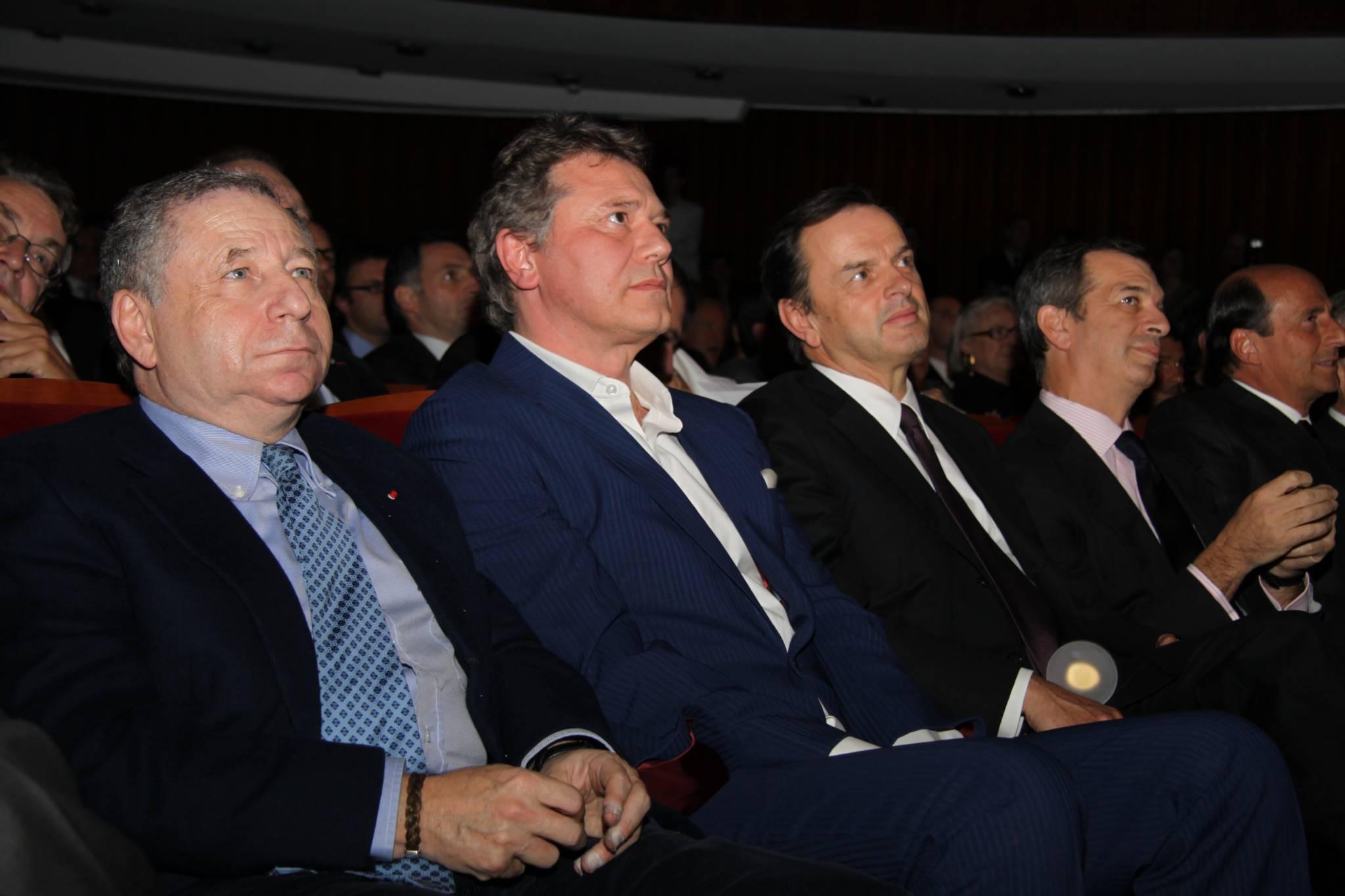 Jean Todt (Président de la FIA), François-Paul Journe (CEO, Montres Journe), Stanislas de Quercise (Président et CEO, Van Cleef and Arpels), Philippe Léopold-Metzger (CEO, Piaget), Richard Mille (CEO, Richard Mille), cérémonie 2010