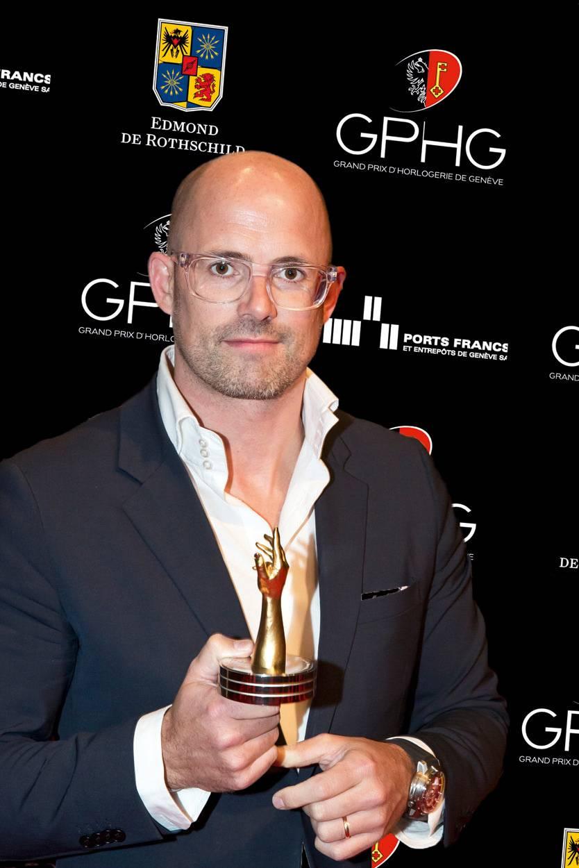 Vincent Perriard, CEO de HYT, marque lauréate du Prix de l'Innovation 2012