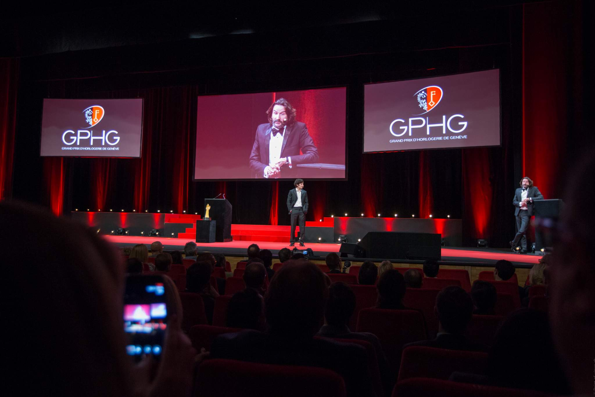 Frédéric Beigbeder and Gaspard Proust (MCs of the prize-giving ceremony of the GPHG 16)