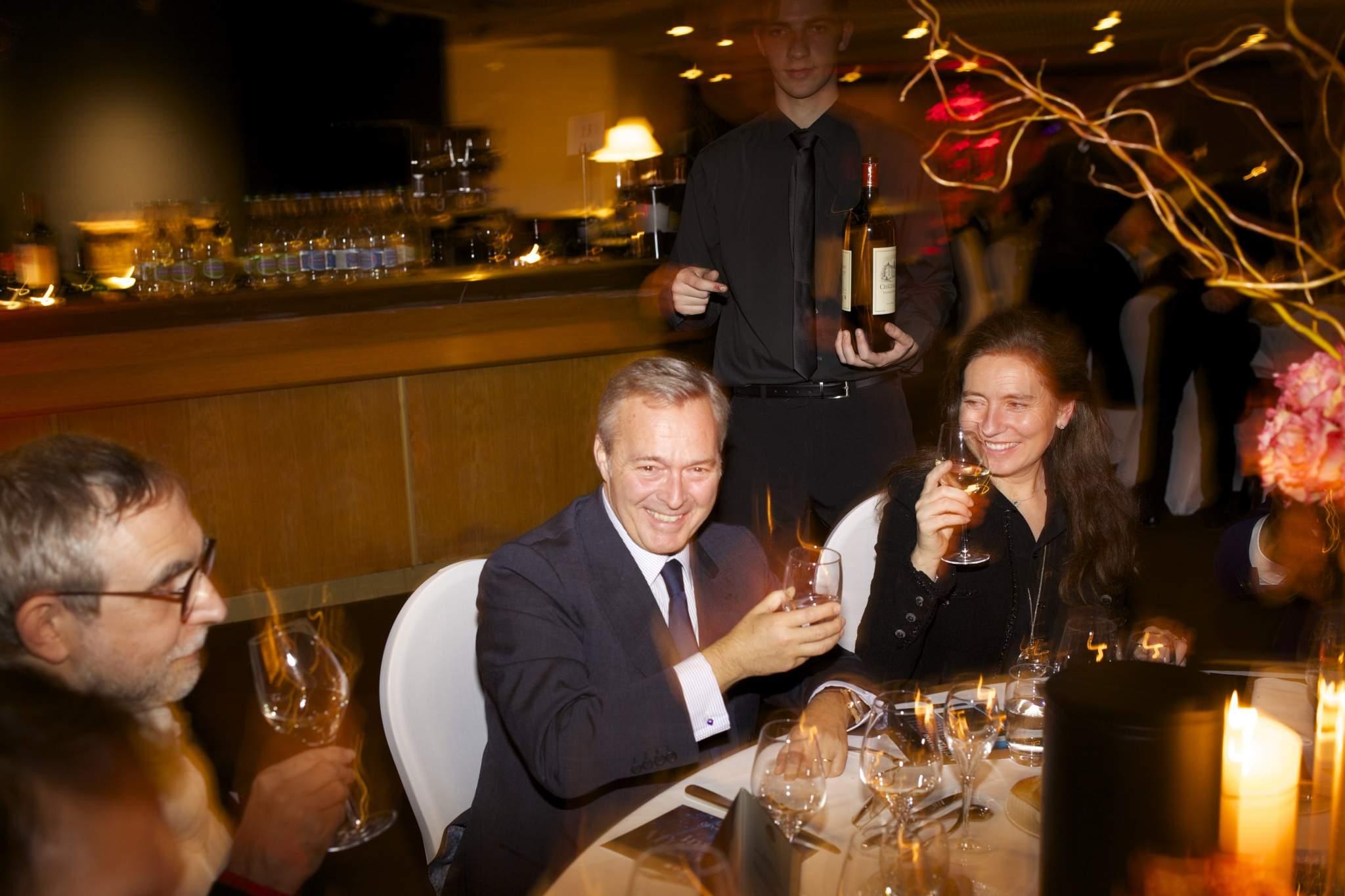 "Karl-Friedrich Scheufele  (President of Chronométrie Ferdinand Berthoud, winner of the ""Aiguille d'Or"" Grand Prix 2016) at the gala dinner of the GPHG 16"