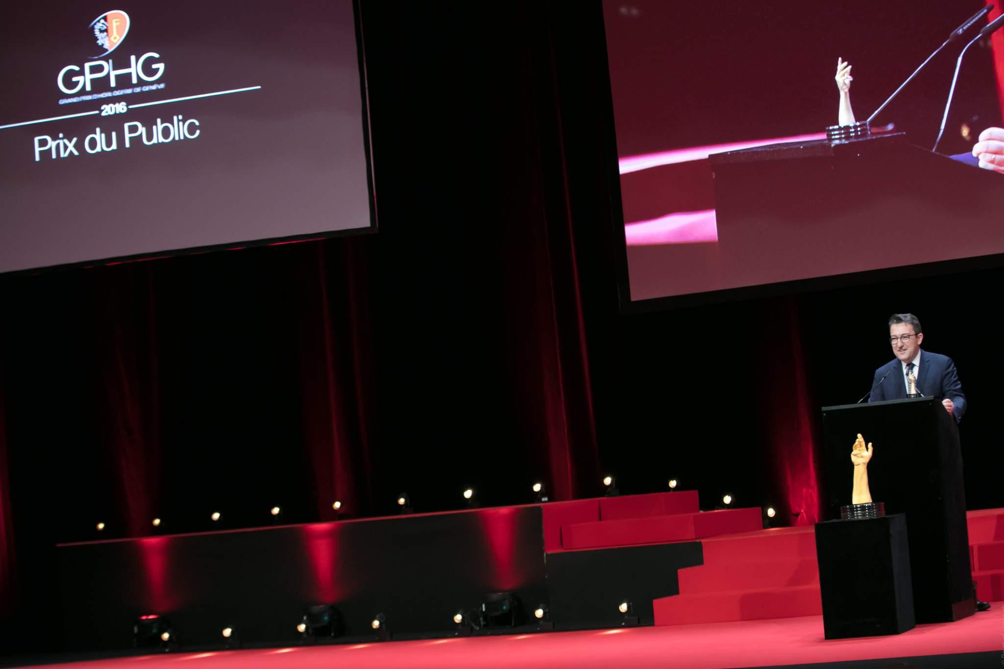 Xavier de Roquemaurel (CEO of Czapek Genève, winner of  the Public Prize 2016)