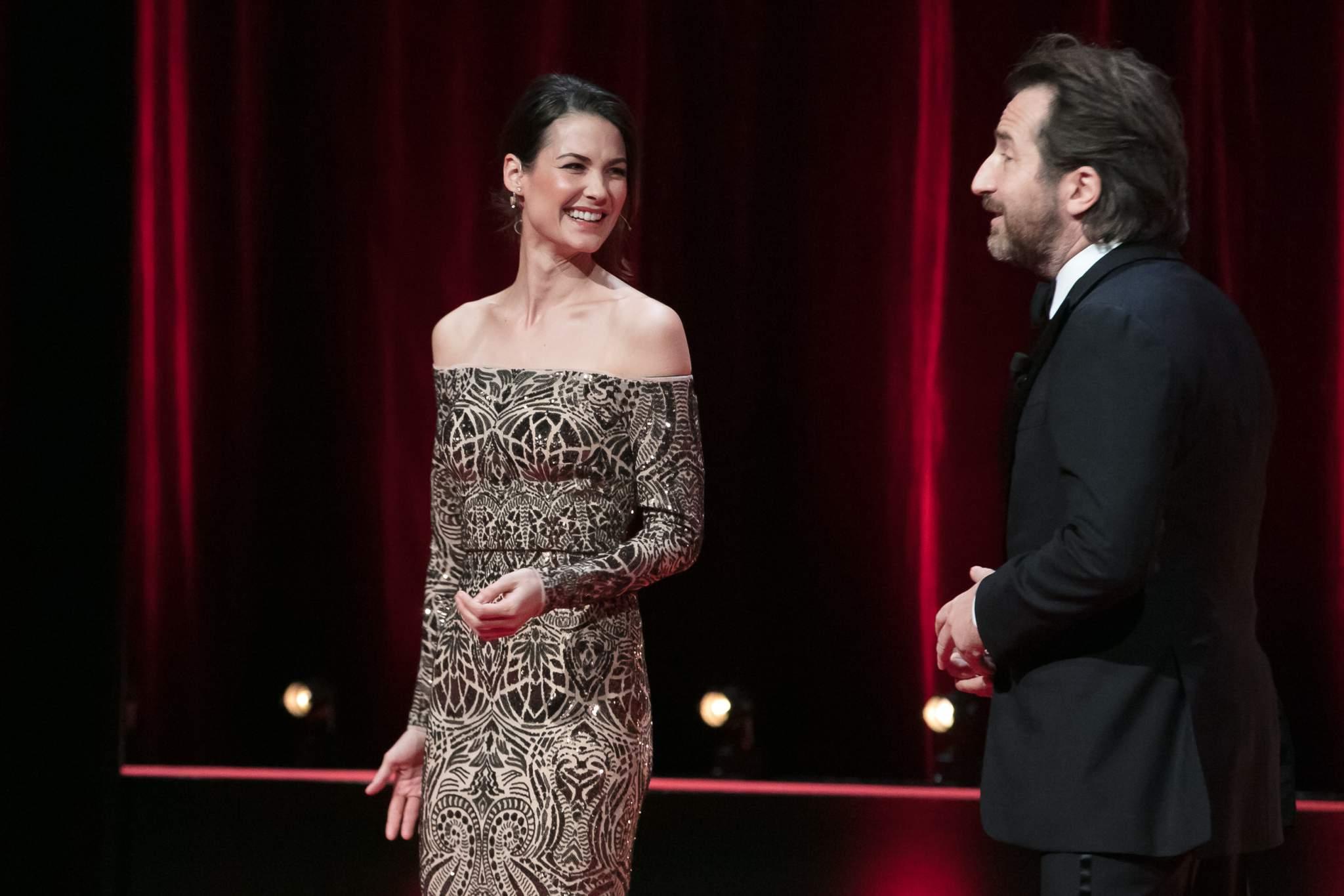 Lauriane Gilliéron et Edouard Baer (présentateurs)