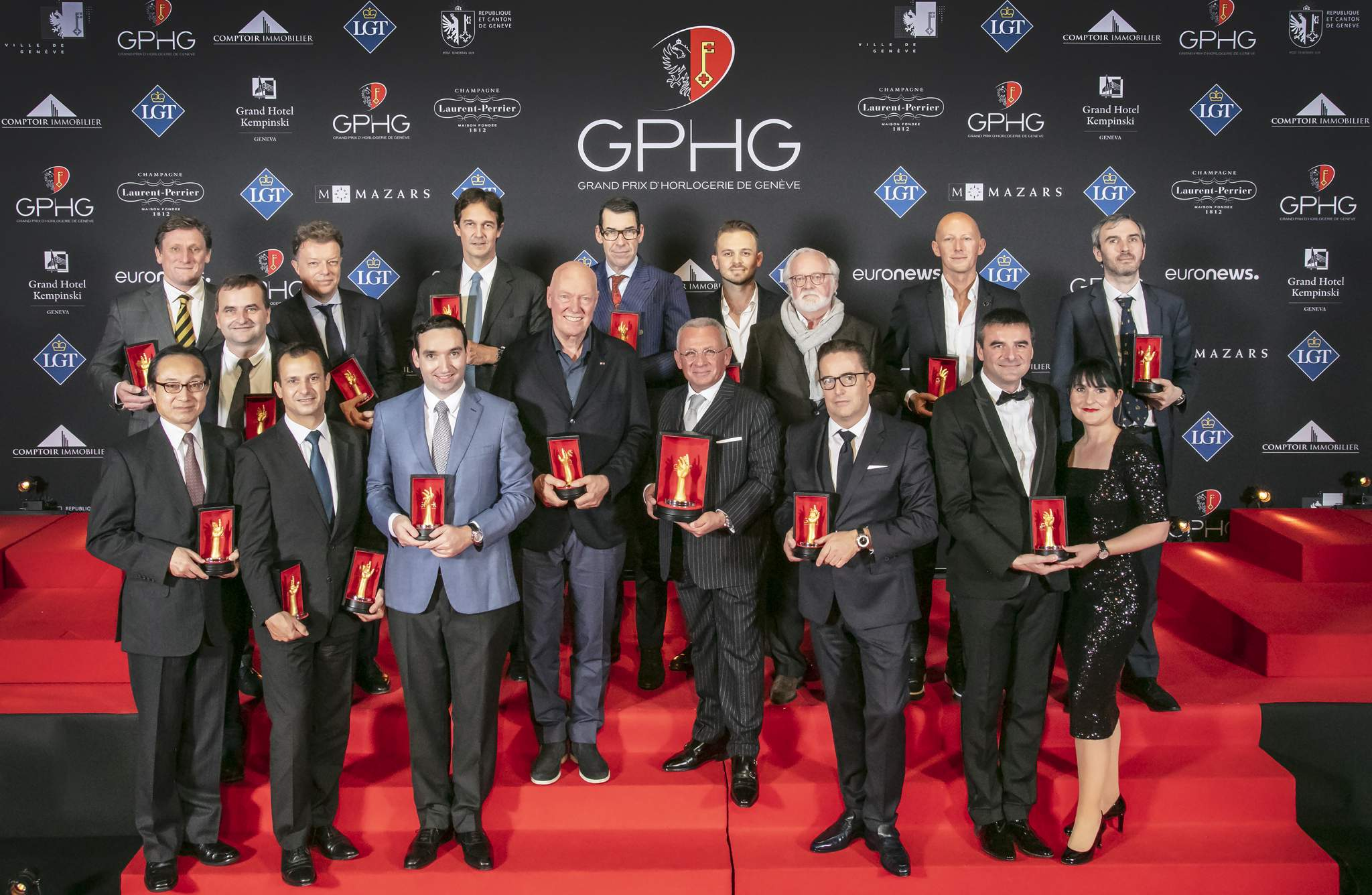 Pascal Raffy (Owner of Bovet 1822) Jean-Claude Biver (President non-executive of the LVMH Group Watch division, Chairman of Hublot & Zenith) Uwe Ahrendt (CEO of Nomos Glashütte) Maria & Richard Habring (CEOs and owners of Habring2) Atsushi Kaneko (Director of Seiko Watch Corporation) Rexhep Rexhepi (Watchmaker and Founder of Akrivia) Nicolas Beau (Directeur International Horlogerie et Joaillerie of Chanel) Eric de Rocquigny (Directeur International Operations & Métiers of Van Cleef & Arpels) Laurent Dordet (La Montre Hermès CEO) Laurent Ferrier (Founder) Marco Borraccino (Co-founder and CEO of Singer Reimagined) Pierre Jacques (President and CEO of De Bethune) Stephen Forsey (Co-founder of Greubel Forsey) Konstantin Chaykin (Founder) Rémi Maillat (Founder of Krayon) Christian Selmoni (Style and Heritage Director at Vacheron Constantin )