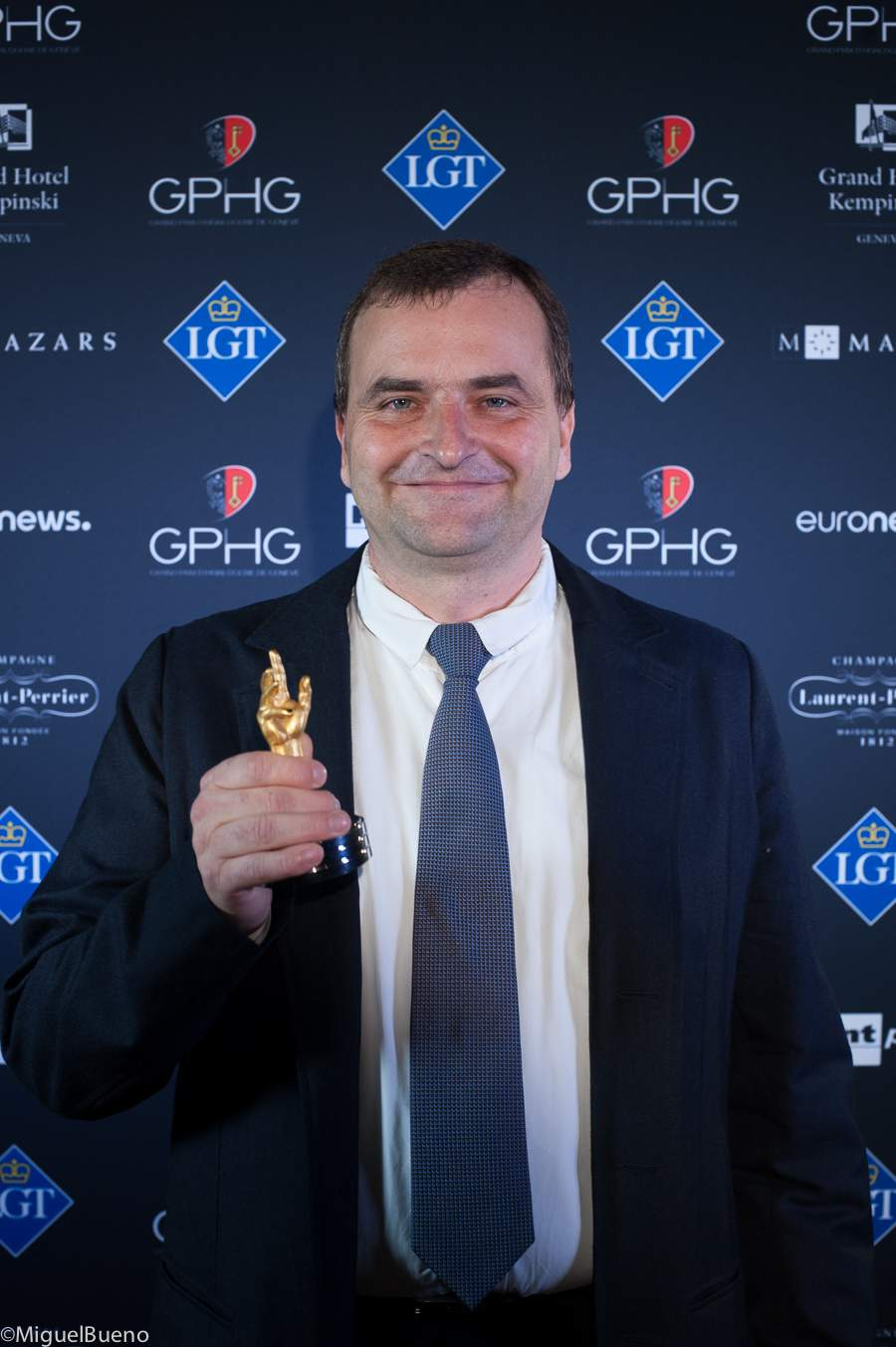 Uwe Ahrendt, CEO of Nomos Glashütte, winner of the Challenge Watch Prize 2018