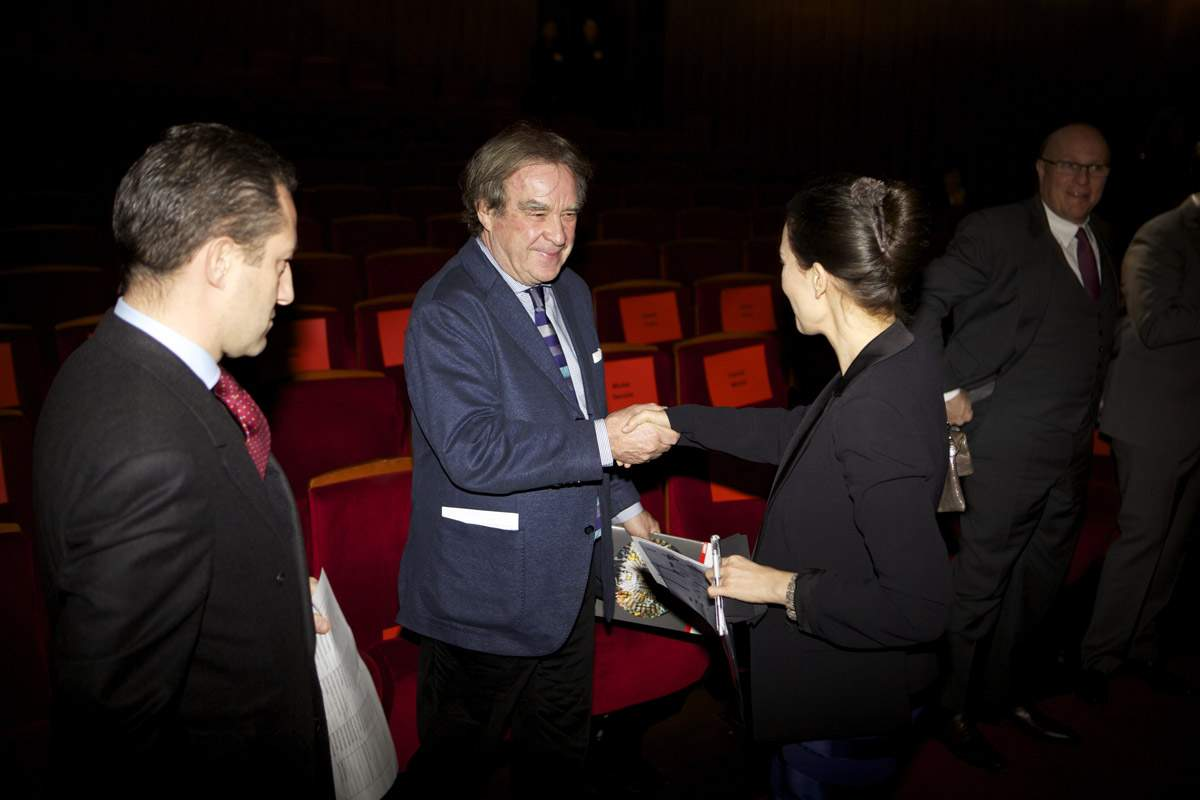 Aurel Bacs (President of the jury of the GPHG), Jean-Michel Wilmotte (jury member of the GPHG 2013) and Carine Maillard (Director of the Foundation of the GPHG)