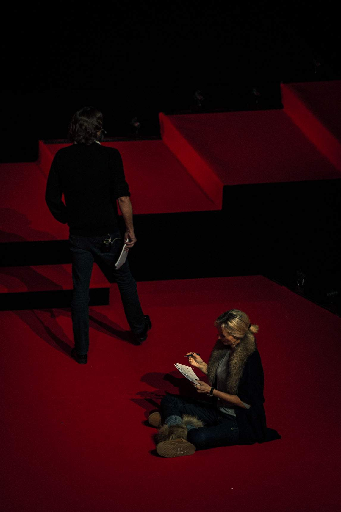 Frédéric Beigbeder and Adriana Karembeu (MCs of the prize-giving ceremony of the GPHG 2012)