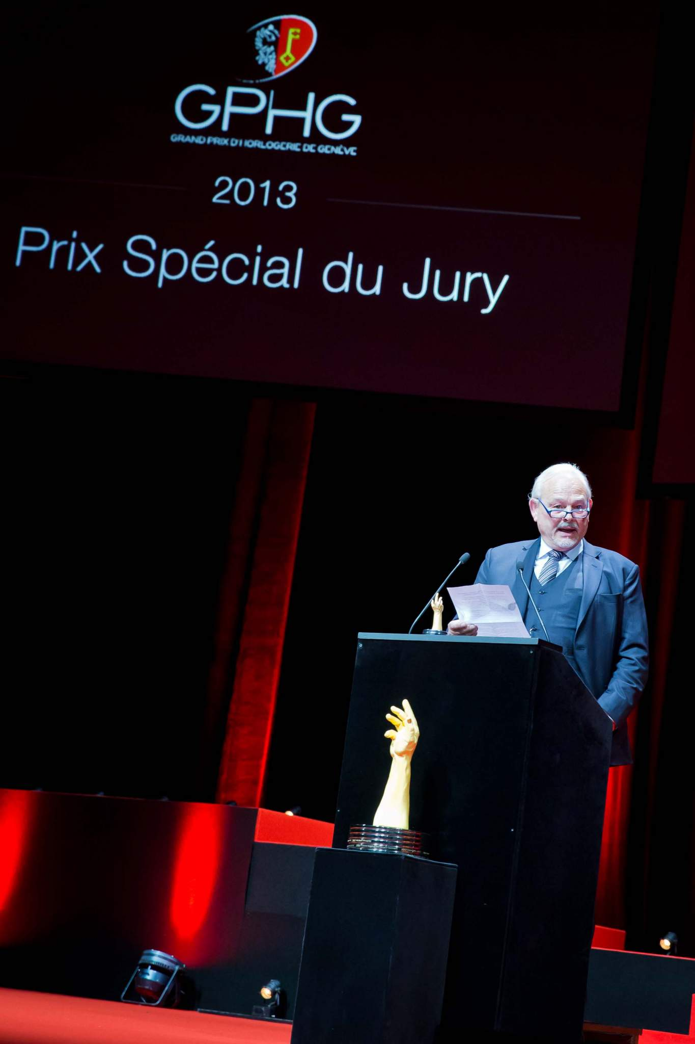 Speech of Philippe Dufour, winner of the Special Jury Prize 2013