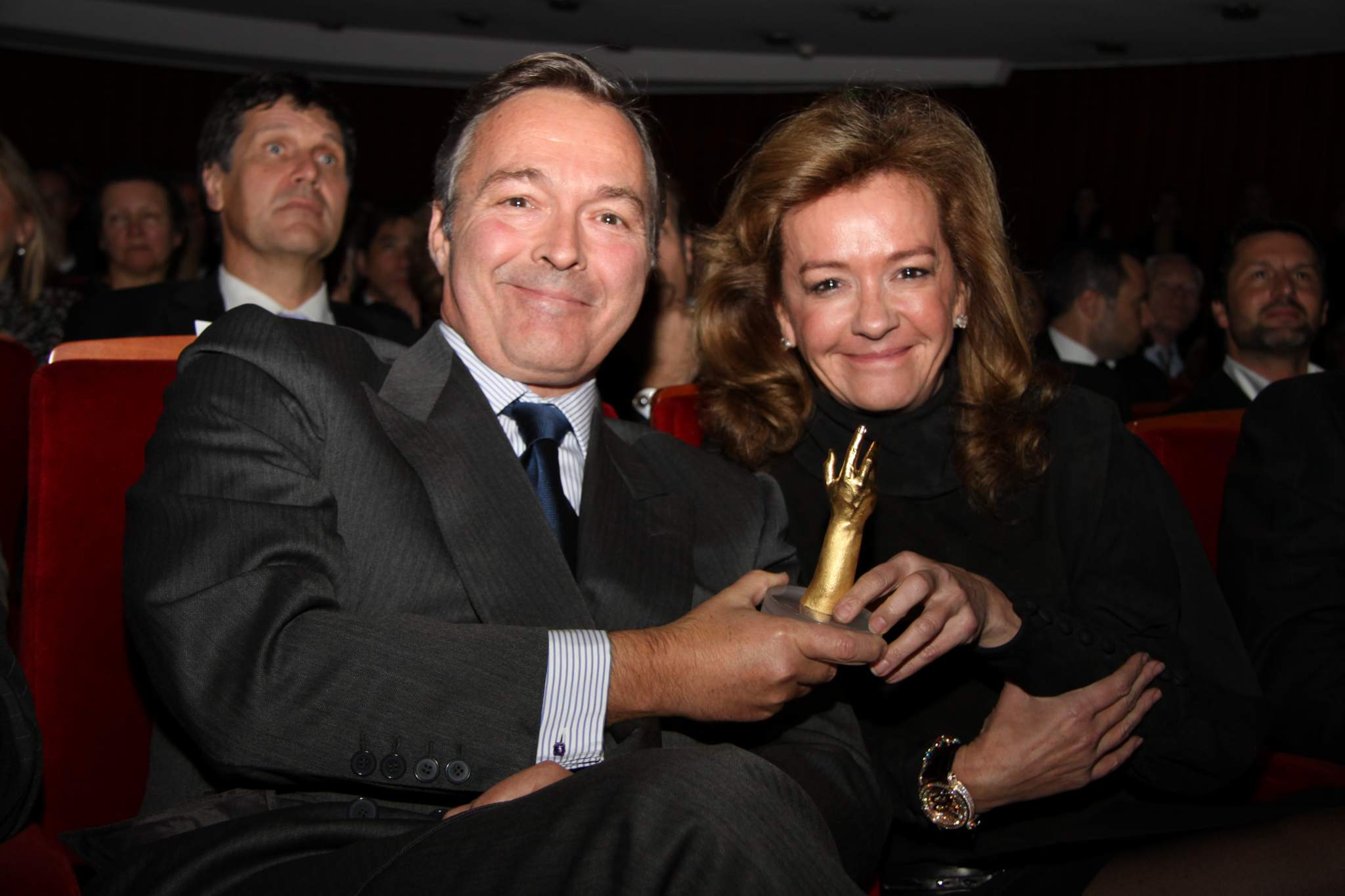 Karl Friedrich-Scheufele and Carloine Gruosi-Scheufele (Co-presidents of Chopard) at the prize-giving ceremony of the GPHG 2011