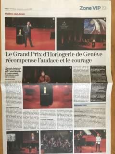 TDG - Le Grand Prix d'Horlogerie de Genève récompense l'audace et le courage