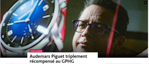 Le Temps - Audemars Piguet triplement récompensé au GPHG