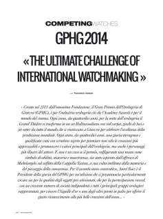 om magazine - the ultimate challenge of international watchmaking