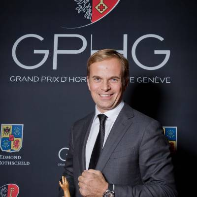 Jean-Frédéric Dufour, CEO of Zenith, winner of the Sports Watch Prize 2013