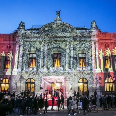 The Grand Théâtre de Genève lit up by Gerry Hofstetter.