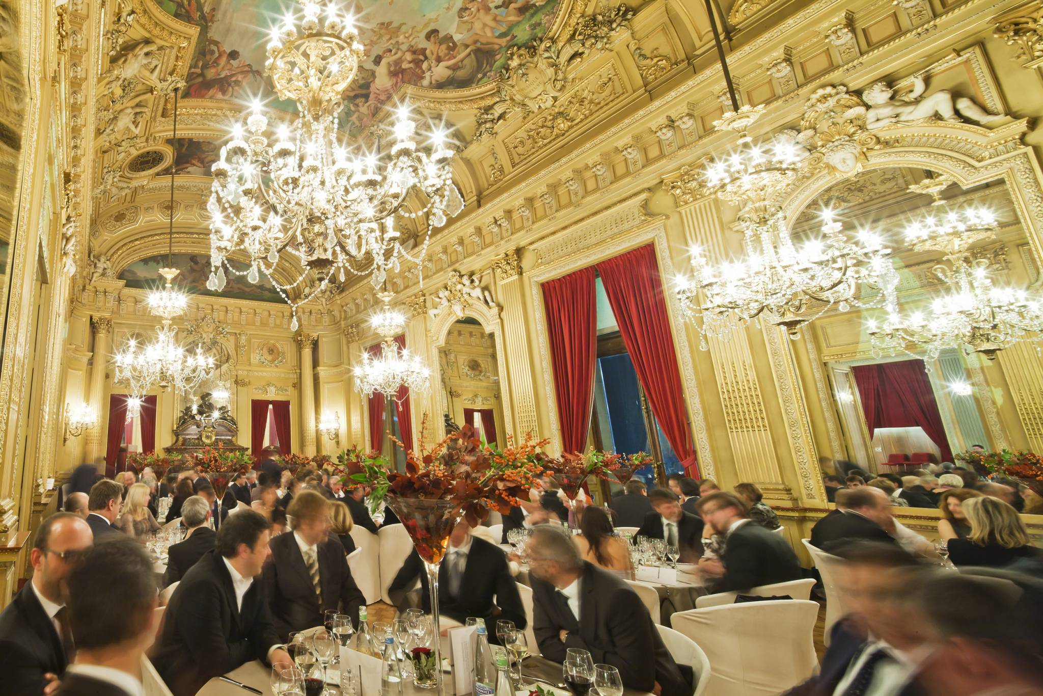 Gala dinner in the lobby of the Geneva Grand Théâtre, November 19th, 2011