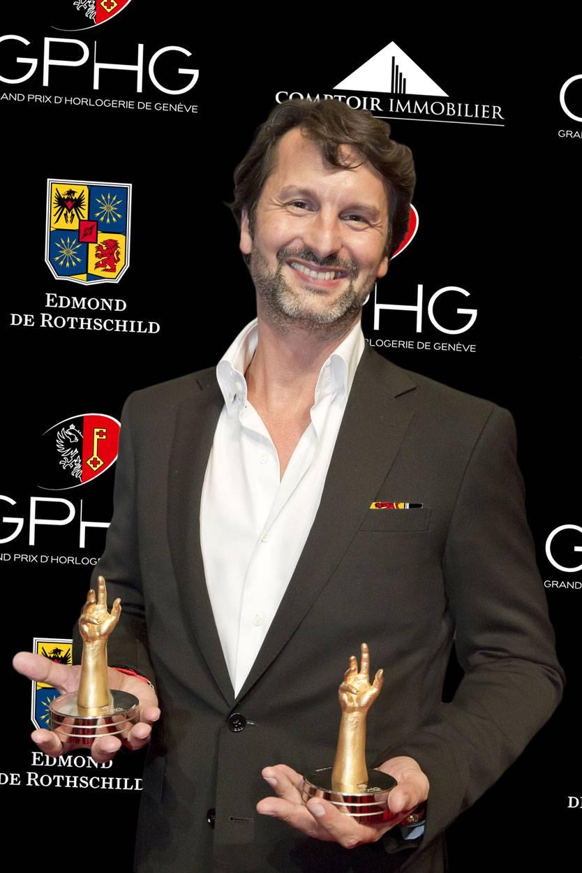 Maximilian Büsser, CEO et co-fondateur de MB&F, marque lauréate du Prix de la Montre Homme 2012 et du Prix du Public 2012