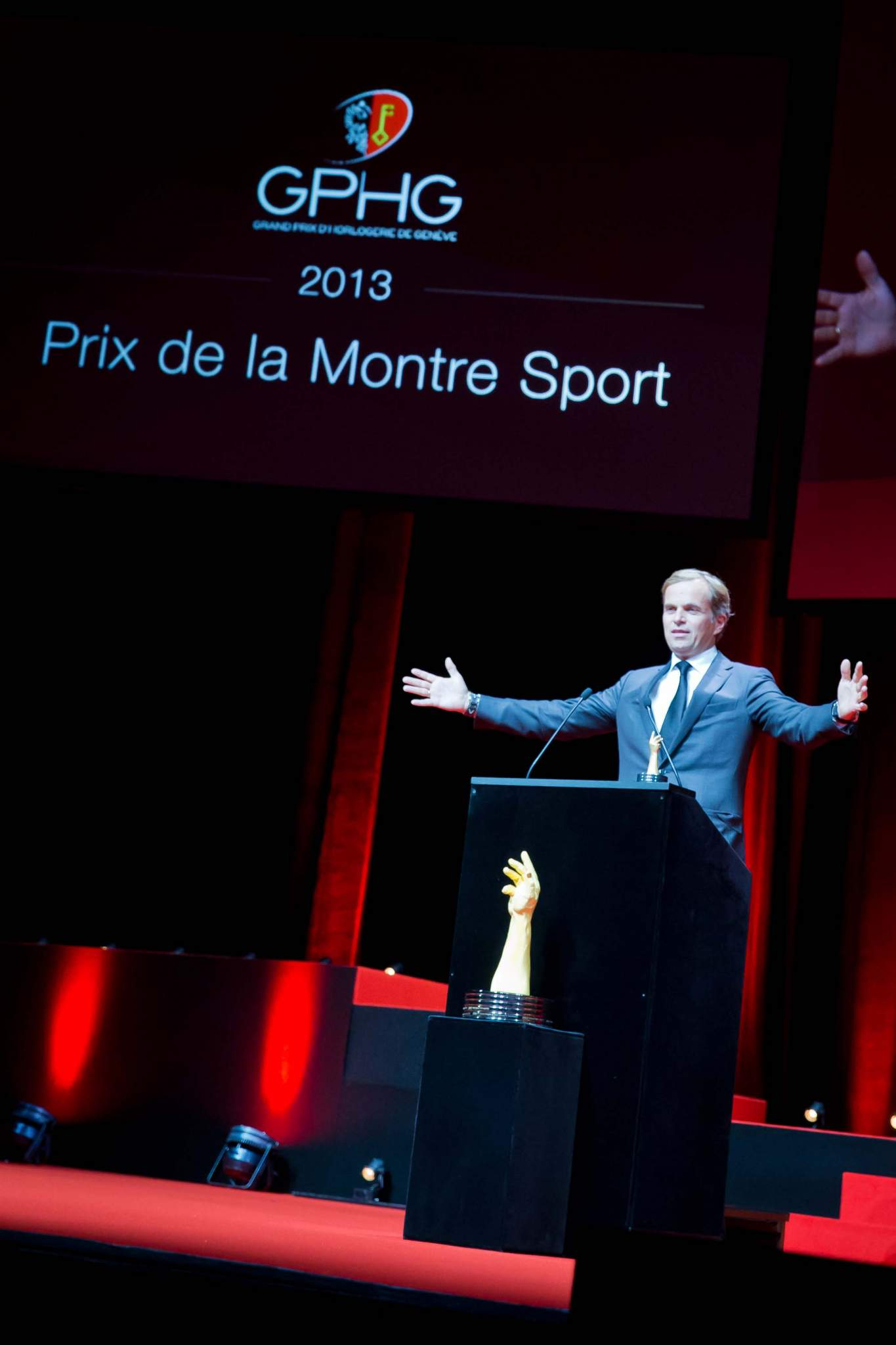 Speech of Jean-Frédéric Dufour, CEO of Zenith, winner of the Sports Watch Prize 2013