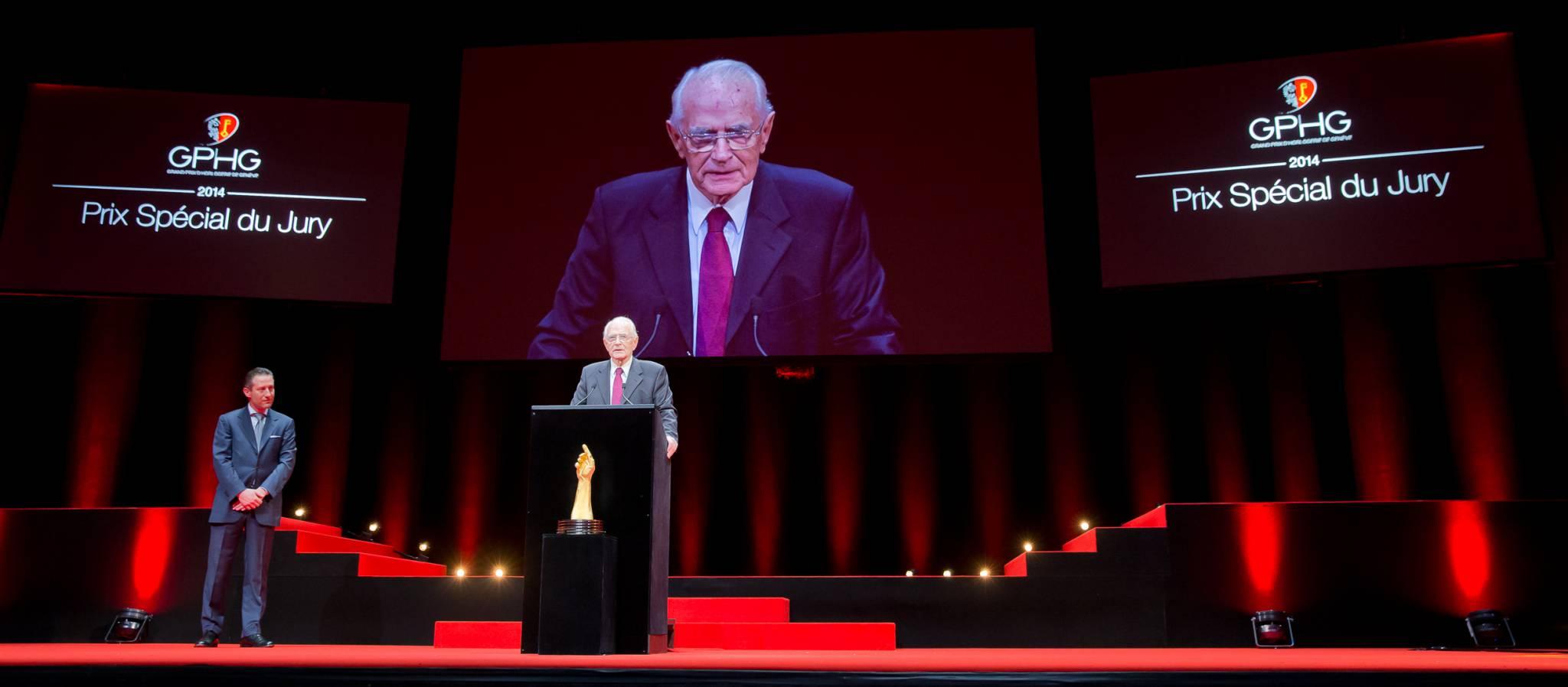 Aurel Bacs (President of the jury) and Walter Lange (Founder of A. Lange & Söhne)