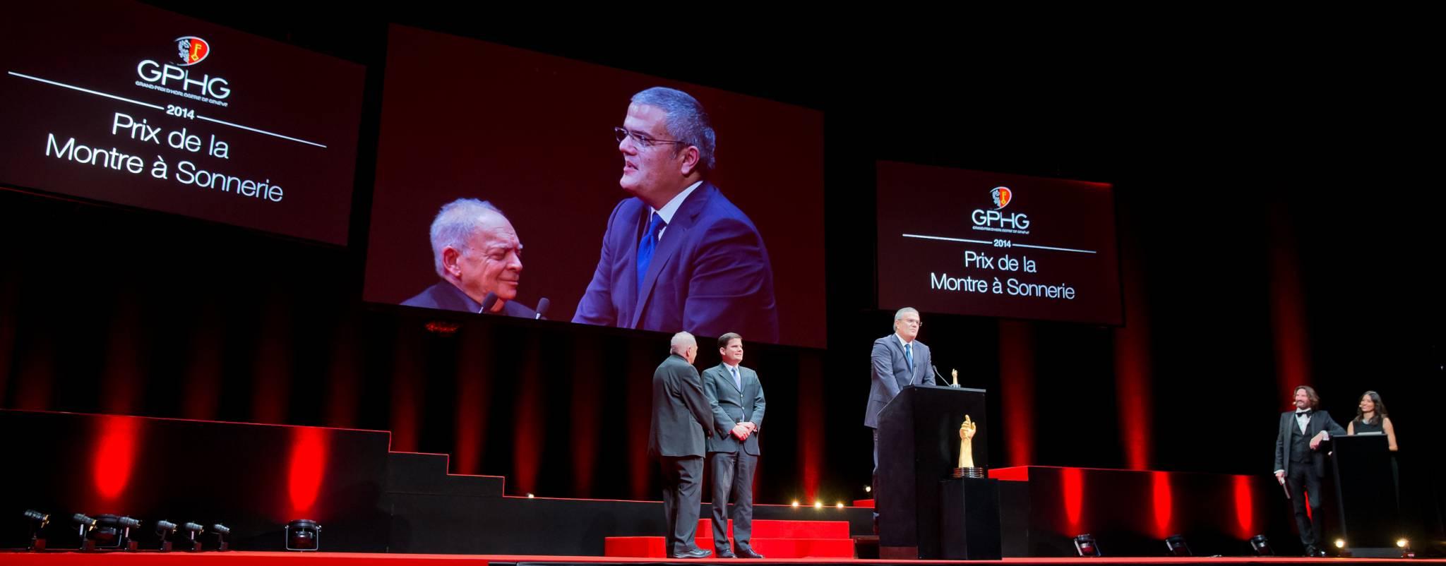 Ricardo Guadalupe (CEO de Hublot, marque lauréate du Prix de la Montre à Sonnerie 2014)