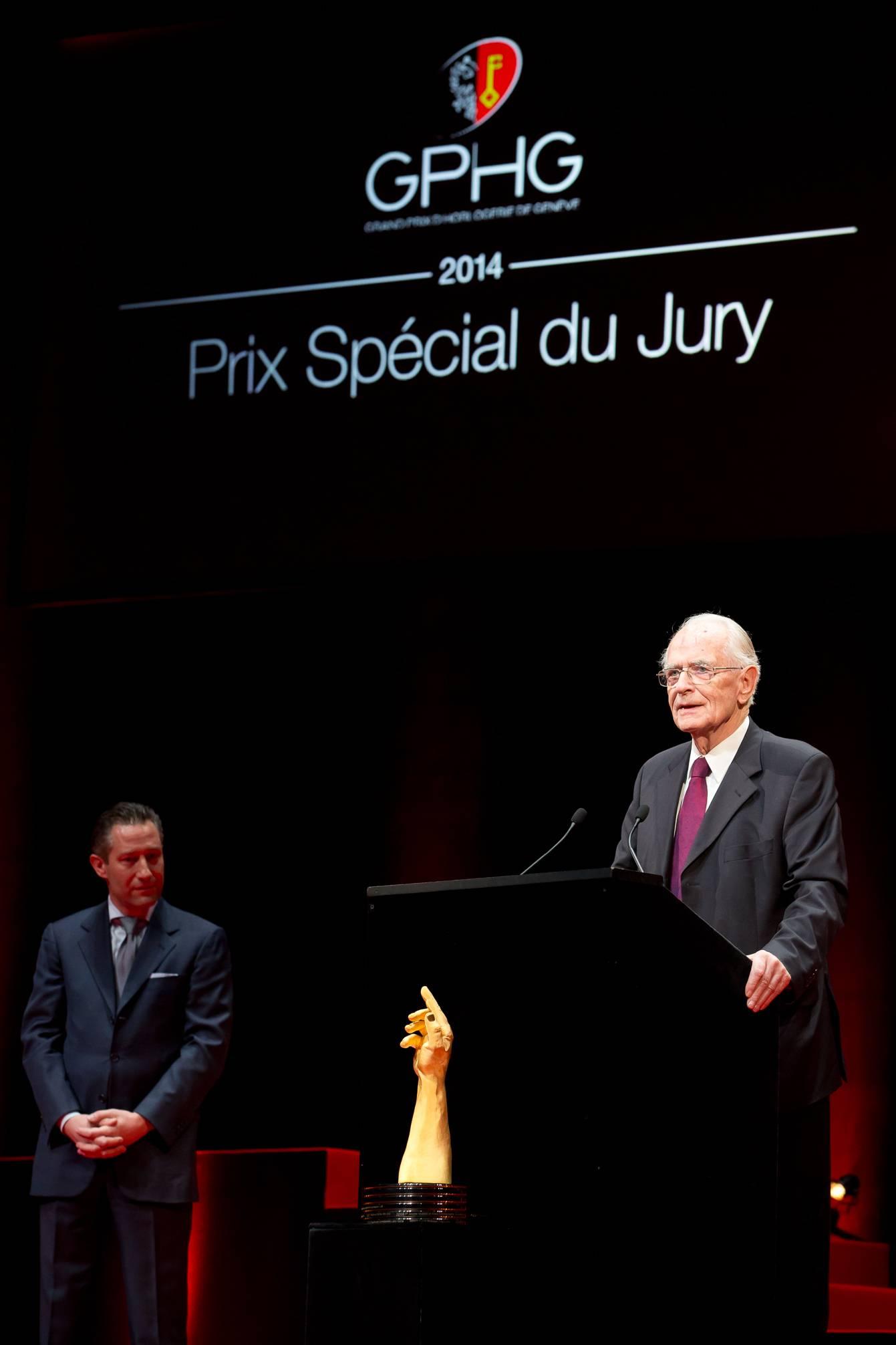 Aurel Bacs (Président du jury) et Walter Lange (Fondateur de A. Lange & Söhne et lauréat du Prix Spécial du Jury 2014)