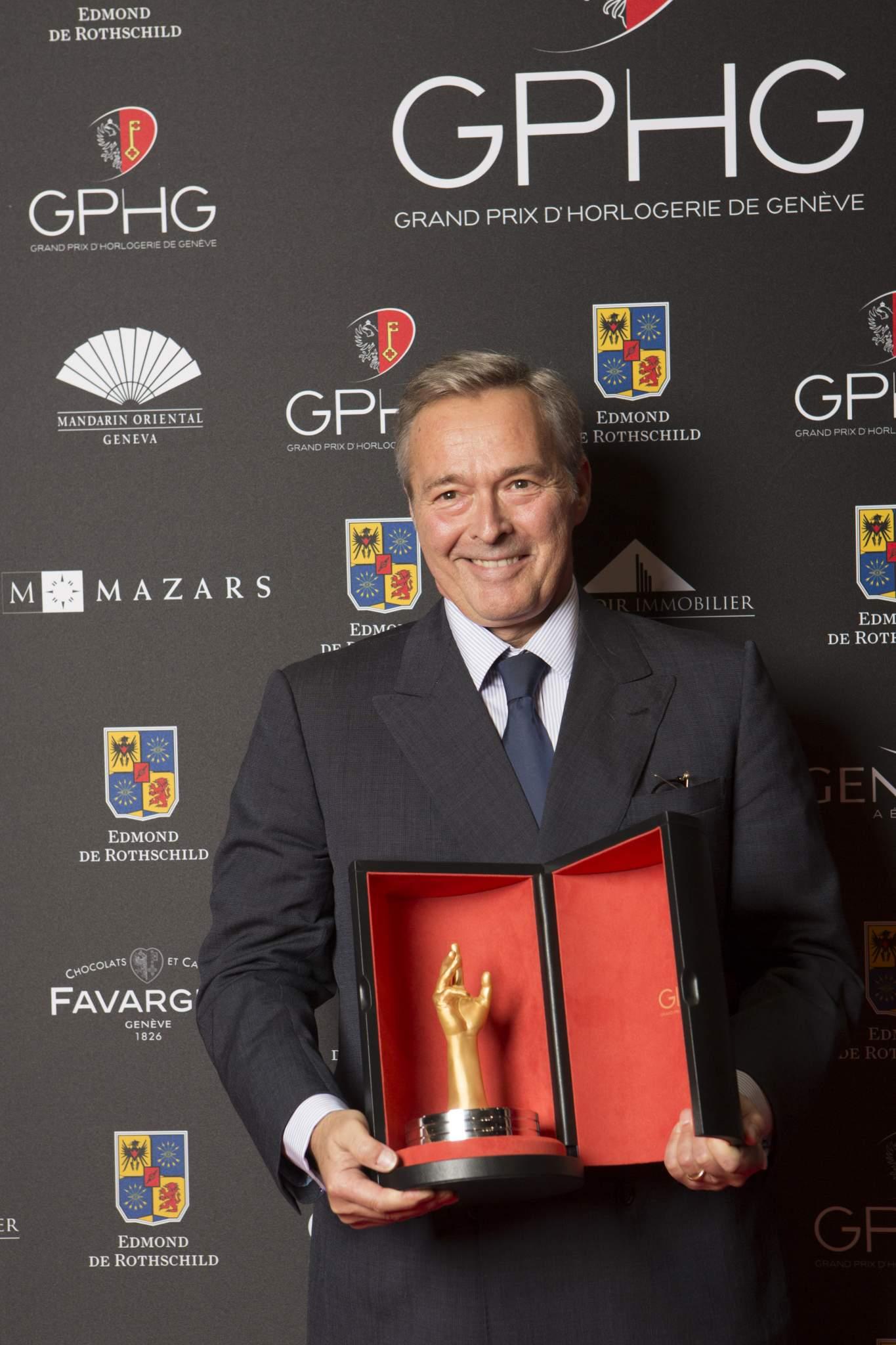 Karl-Friedrich Scheufele (Président de Chronométrie Ferdinand Berthoud, lauréat du Grand Prix de l'Aiguille d'Or 2016)