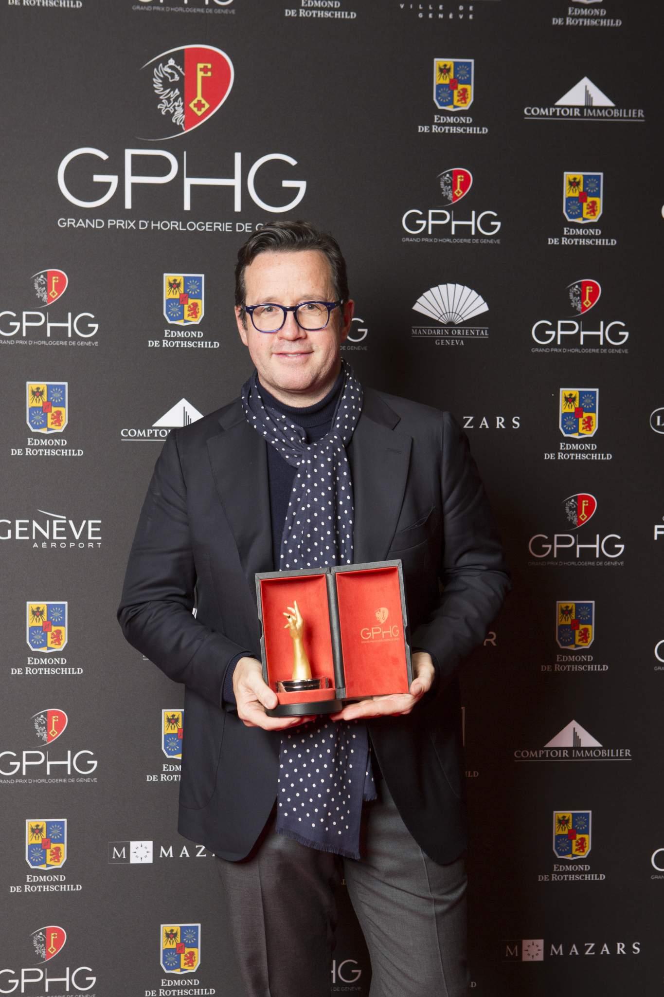 François Bennahmias (CEO de Audemars Piguet, lauréat du Prix de L'Exception Mécanique 2016)