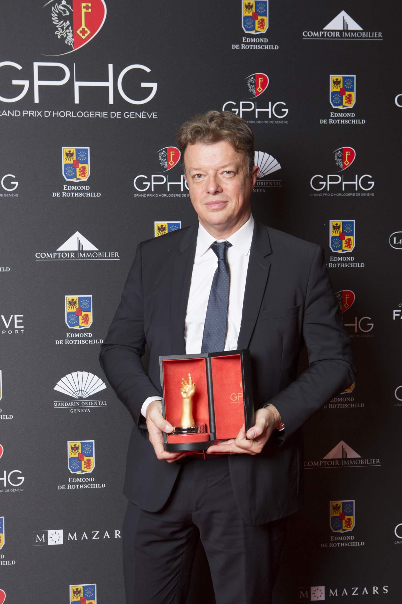 Nicolas Beau (Directeur International Horlogerie de Chanel, lauréat du Prix de la Montre Joaillerie 2016)