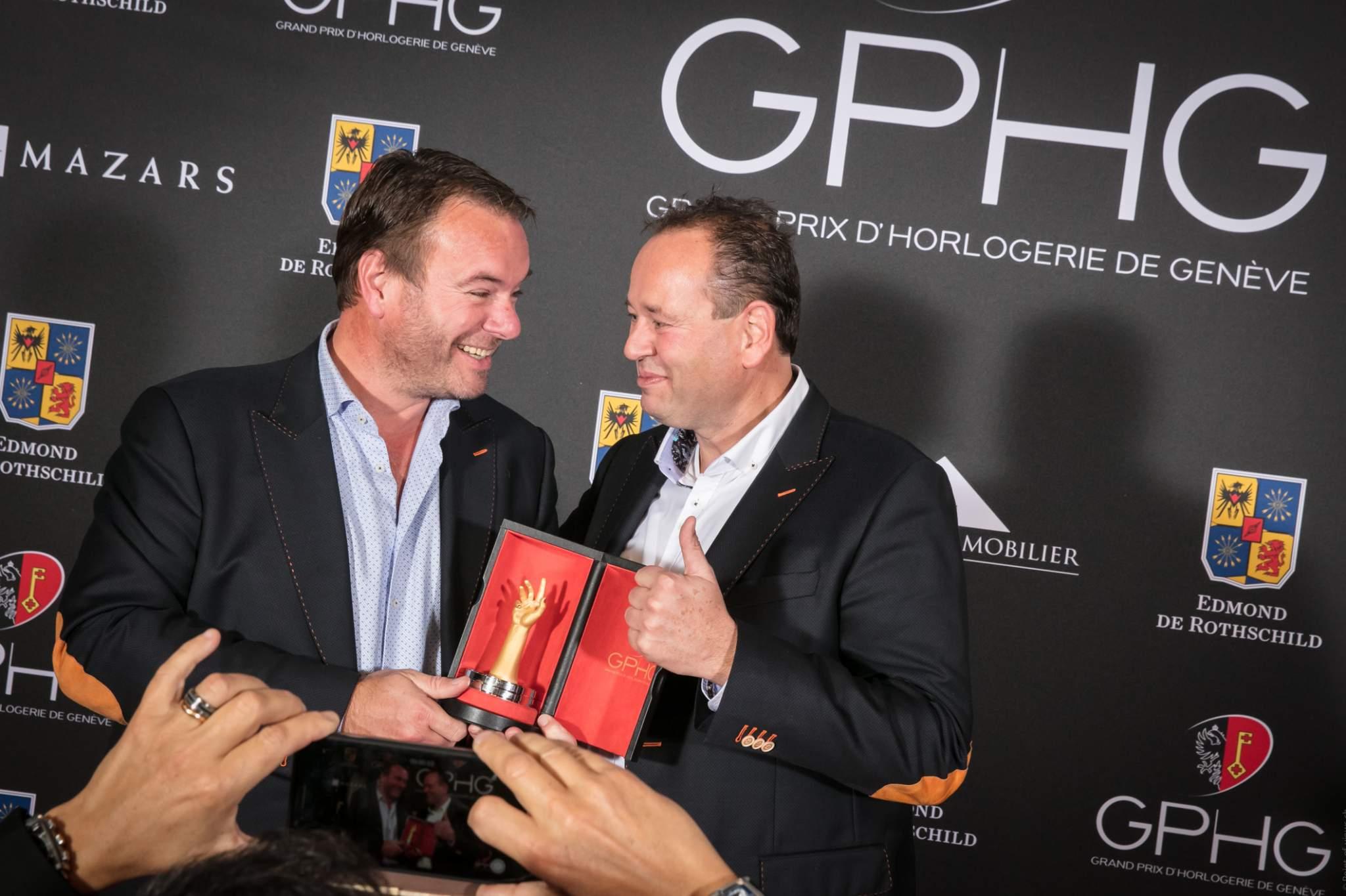 Tim et Bart Grönefeld (Co-fondateurs de Grönefeld, lauréat du Prix de la Montre Homme 2016)