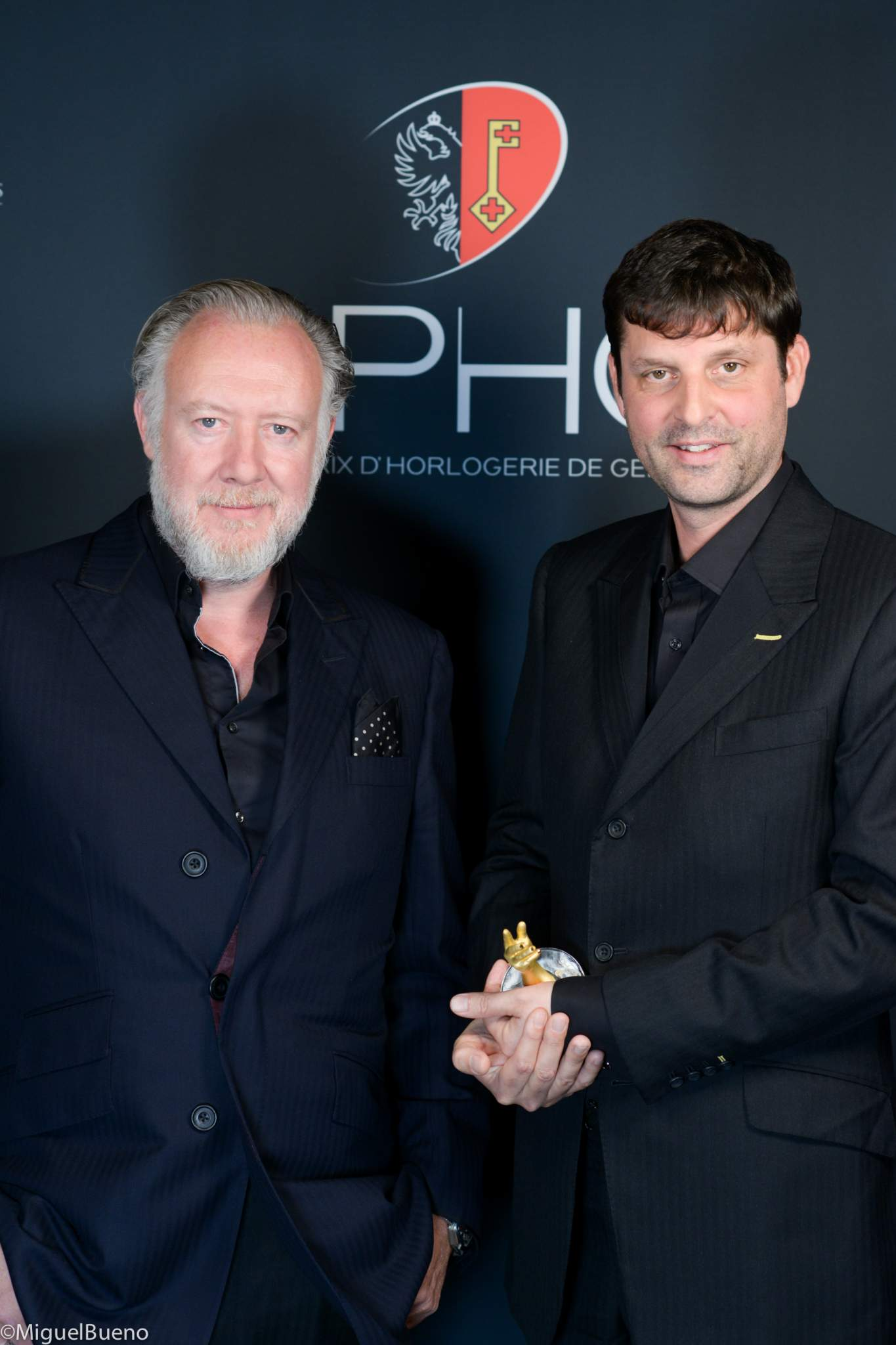 "Co-founders of Urwerk, winners of the ""Horological Revelation"" Prize 2019"