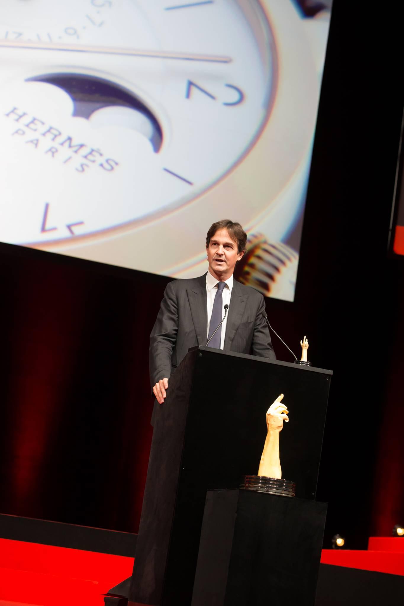 Laurent Dordet (Directeur général de la Montre Hermès, marque lauréate du Prix de la Montre Calendrier 2015)