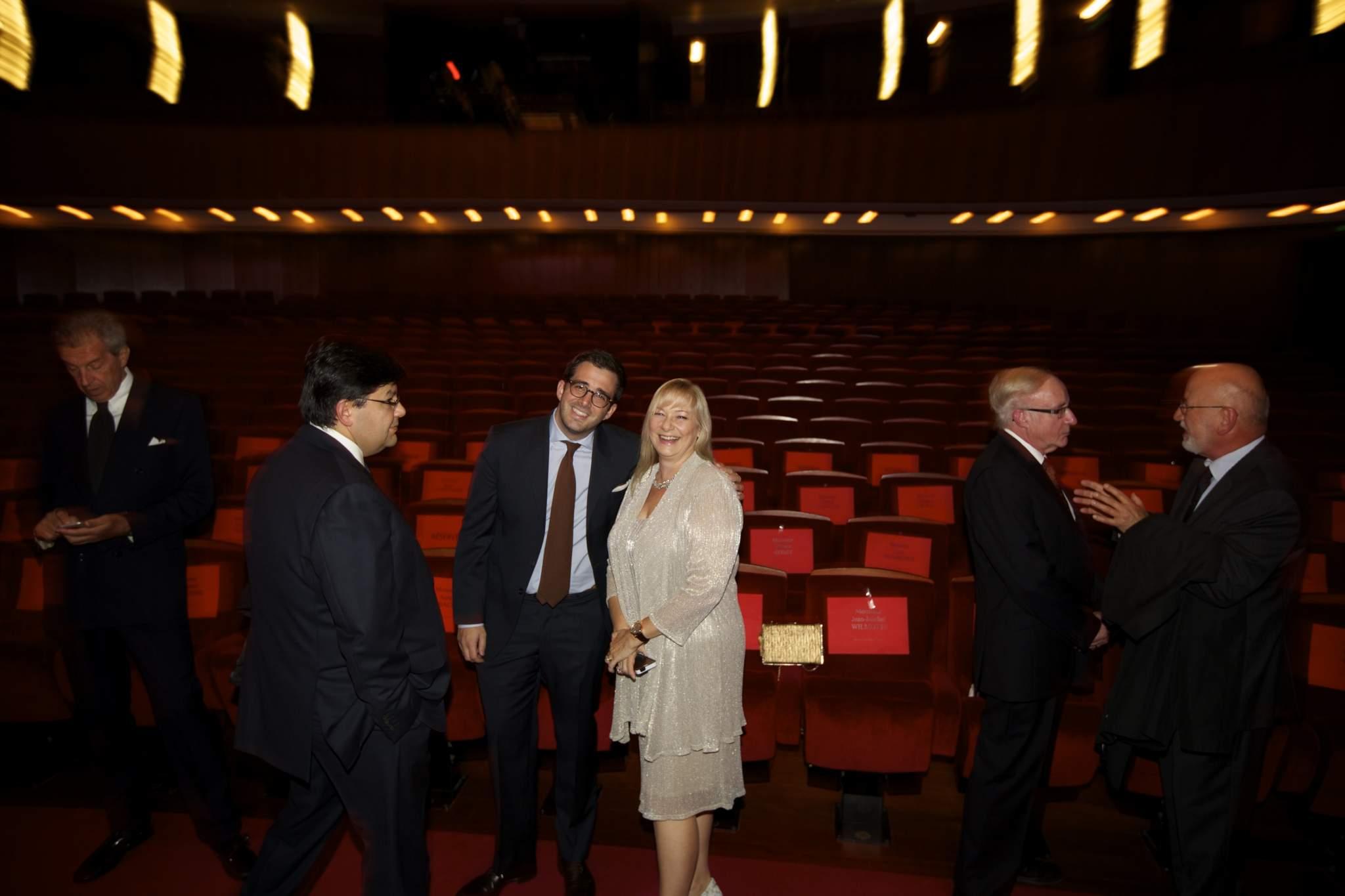 John Goldberger, Sean Li, Benjamin Clymer, Elizabeth Doerr, Dominique Fléchon and Jean-Philippe Arm  (jury members of the GPHG 2014)
