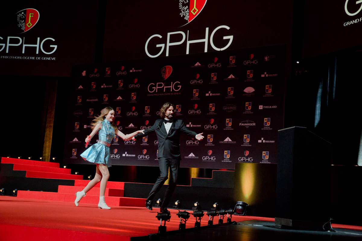Solweig Lizlow and Frédéric Beigbeder (MCs of the prize-giving ceremony of the GPHG 2013)