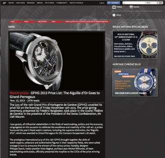 watchonista - GPHG 2013 Prize List: The Aiguille d'Or Goes to Girard-Perregaux